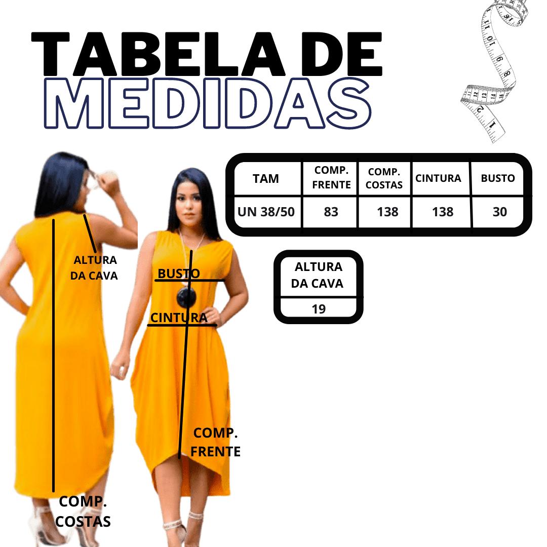Kit 2 Vestido Evangelico Sem manga Mullet Assimetrico Saruel