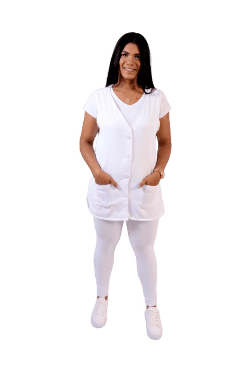 Kit 3 Calça Leg Skinny Modeladora Comum BRANCA