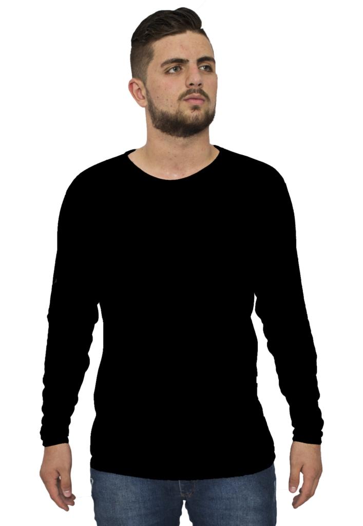 Kit 3 Camiseta Básica Manga Longa