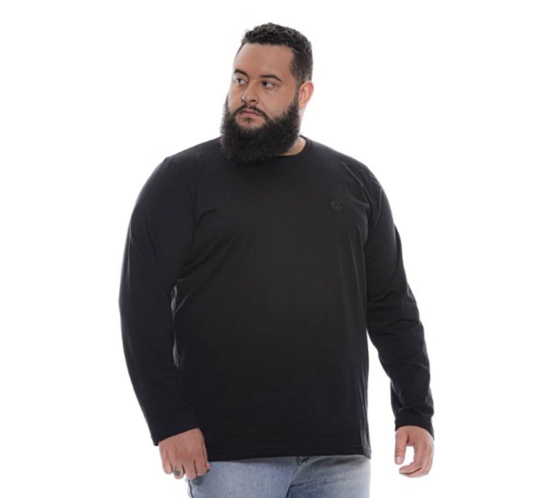 Kit 3 Camiseta Básica Manga Longa Extra