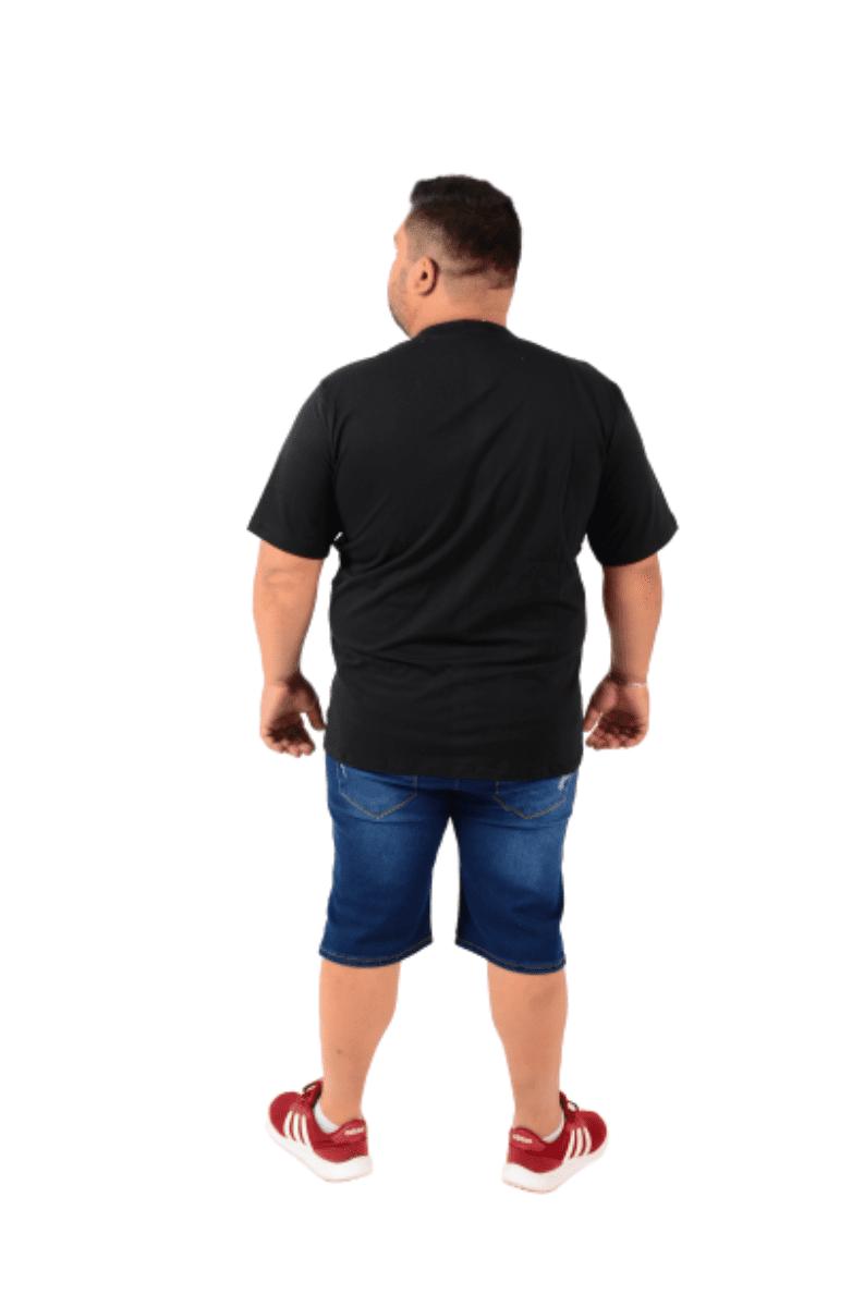 Kit 3 Camiseta Gola Redonda EXTRA preto