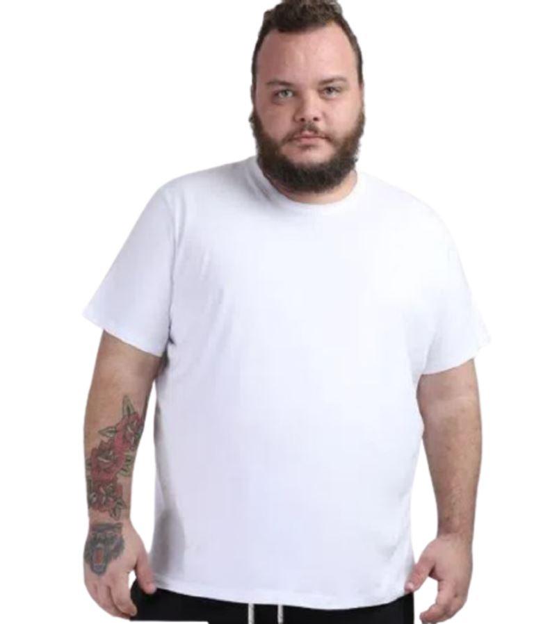 KIT 3 Camiseta Poliéster Branca Extra