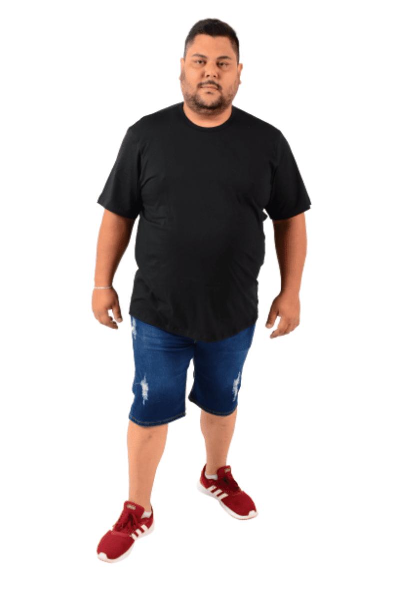 Kit 3 Camisetas extra grande G3 G4 G5 G6 gola careca