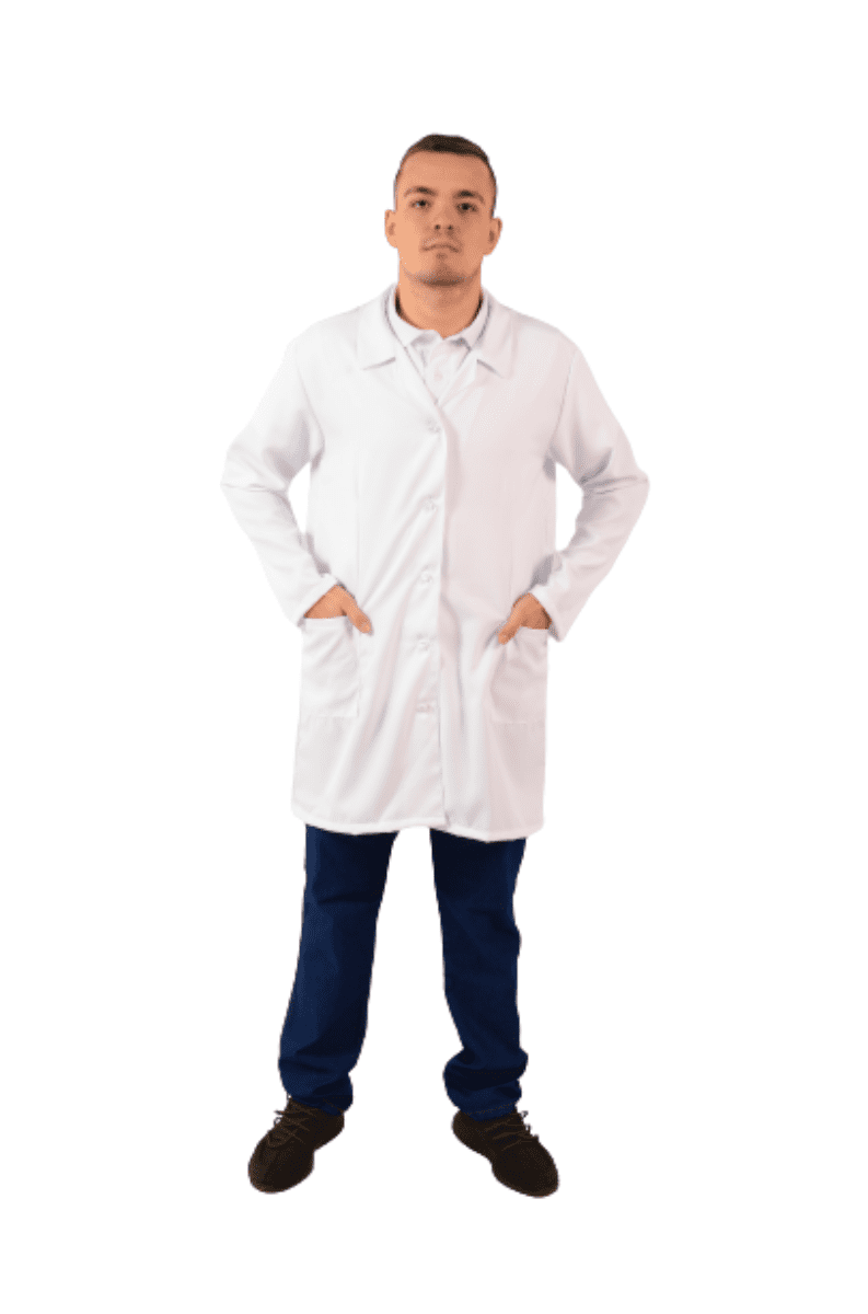 Kit 3 Hospitalar Uniforme 1 Jaleco + 2 Camisetas Gola V