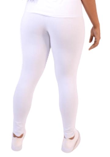 Kit 5 Calça Leg Skinny Modeladora Comum BRANCA