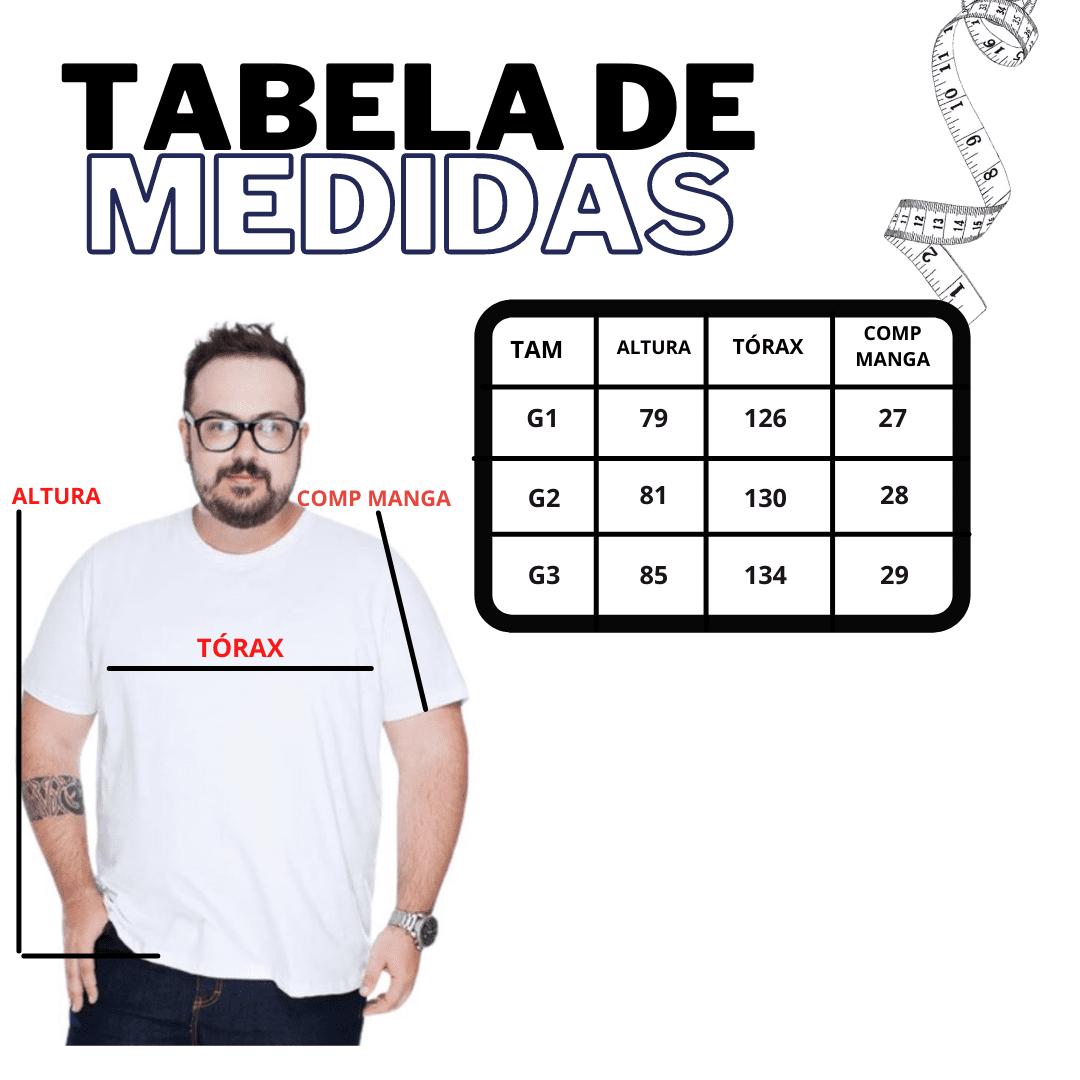 KIT 5 CAMISETA EXTRA BASICA GOLA REDONDA - SORTIDA