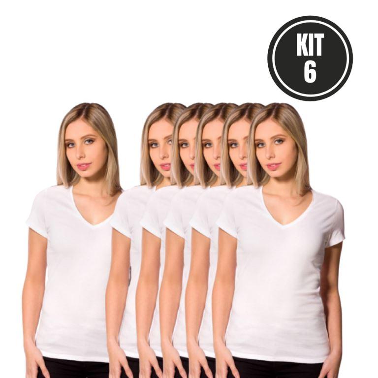 Kit 6 Baby Look Gola V Branco