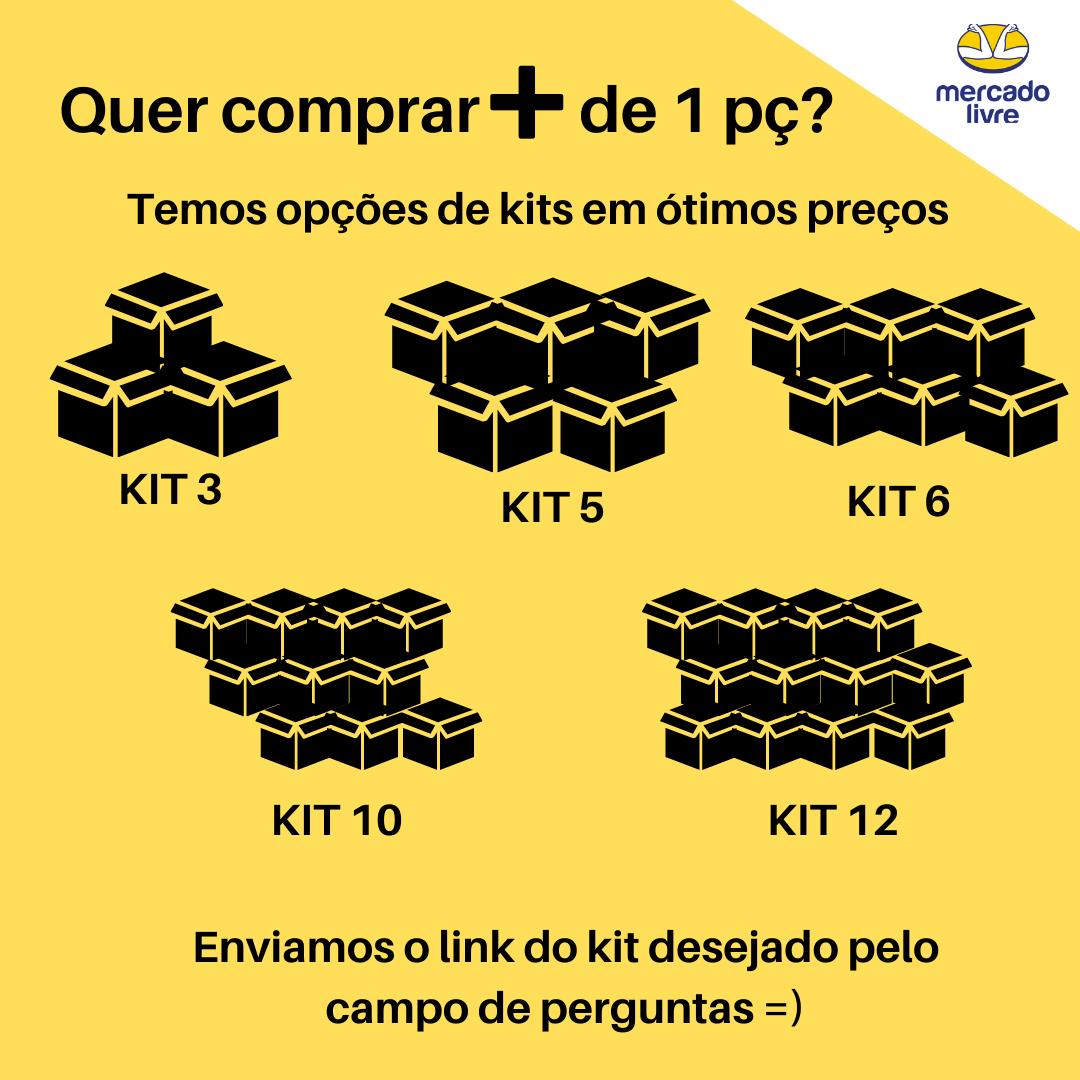 Kit 6 Camiseta Masculina Gola V Branco