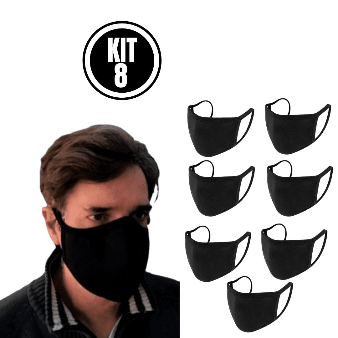 Kit 8 Máscara Ninja Preta