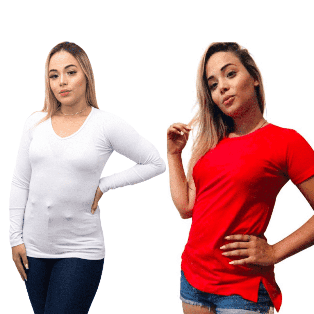 Presente Combo Dia das Mães Segunda Pele e Tshirt Manga Curta