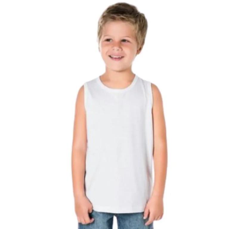 Regata Gola redonda manga curta infanto juvenil
