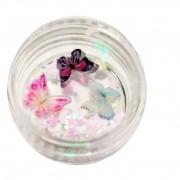 Borboletinha de Acrílico para Decoração - 1 unidade - Helen Color