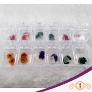 Flor Seca - Kit com 12 unidades