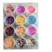 Kit Glitter Bolinha Flocado - 12 unidades