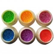 Kit Glitter Bolinha Néon - 6 Cores