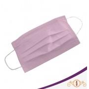 Máscara Camada Dupla Elástico Rosa - Pacote 50 Unidades