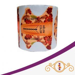 Molde Helen Color Laranja Floral - 300 uni