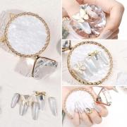 Pedra Em Formato De Anel Com Diamante Para Foto - Nail Designer