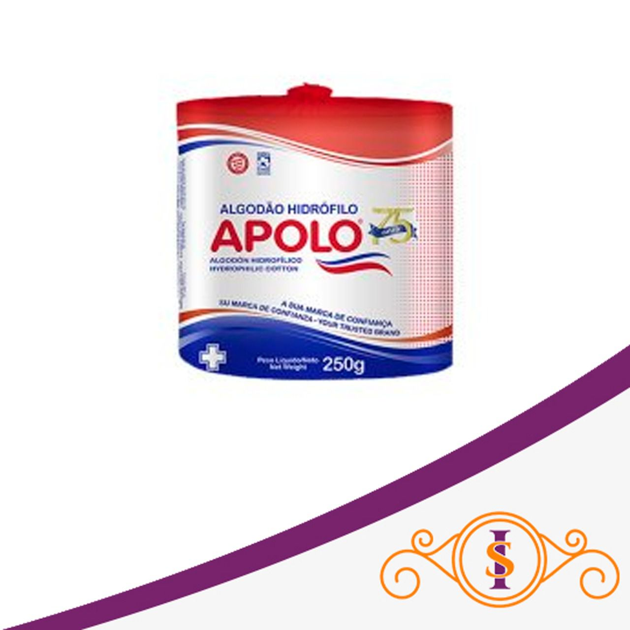 Algodão Hidrófilo Apolo - 250g
