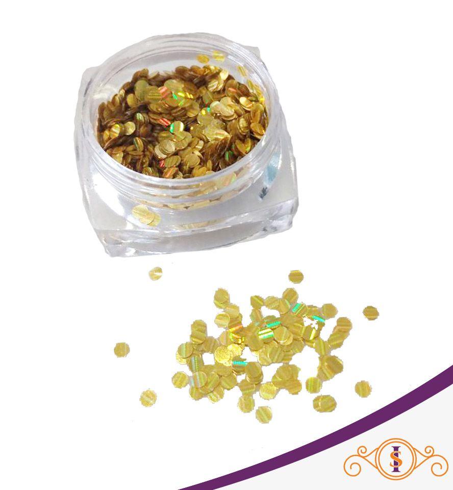 Bolinhas Douradas - Glitter