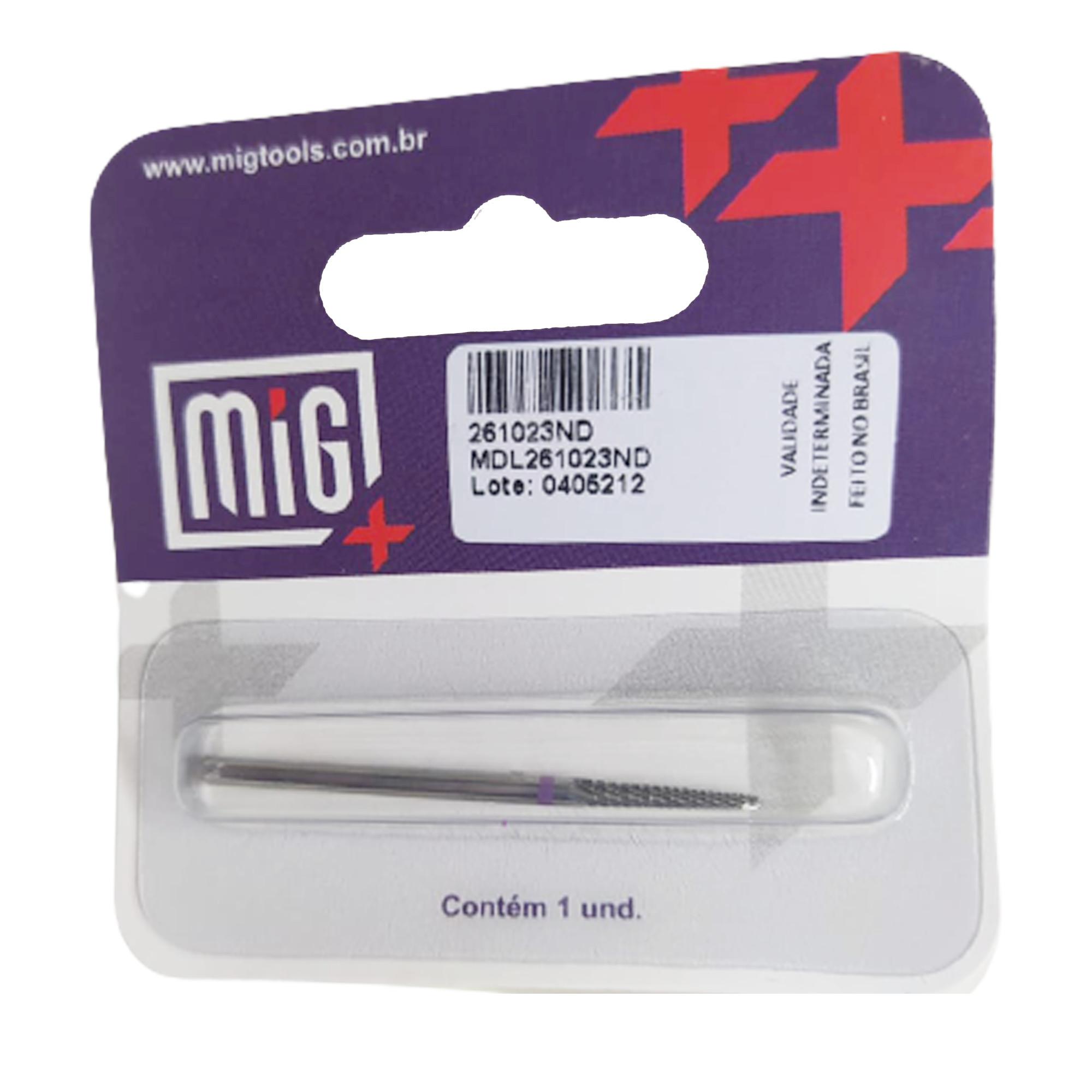 Broca Tungstênio para Desgaste - 261023ND - Mig Tools