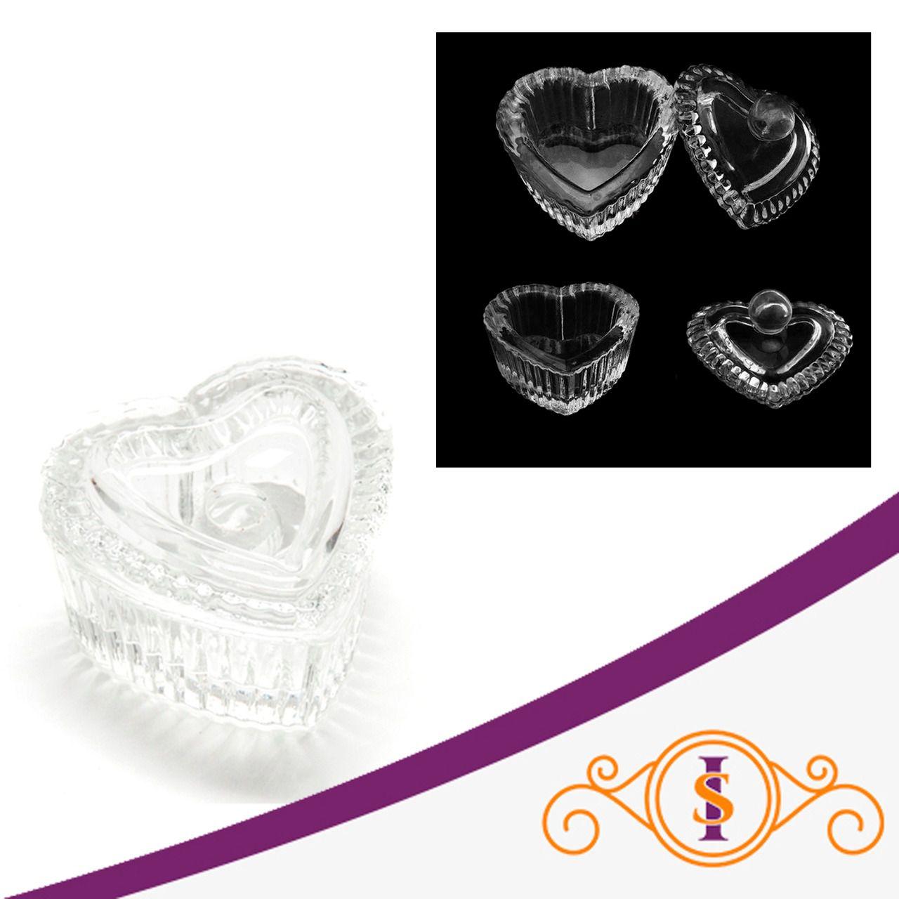 Dappen de Vidro - Formato coração