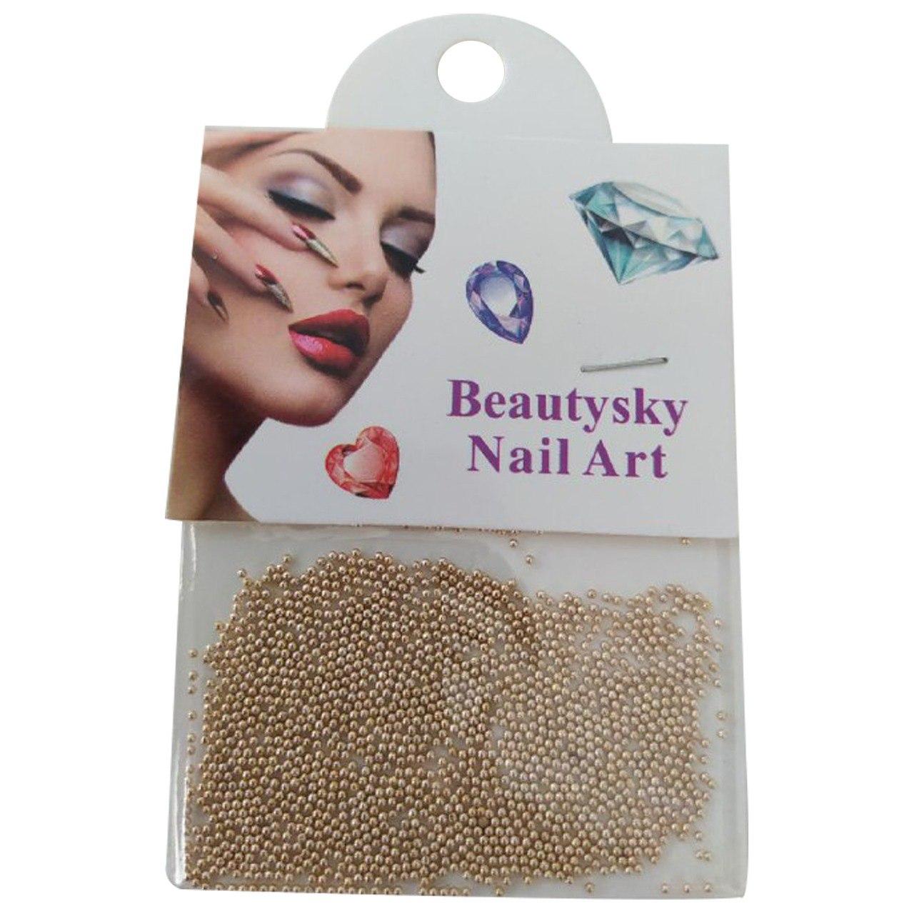 Esfera caviar metalizada para decoração de unhas