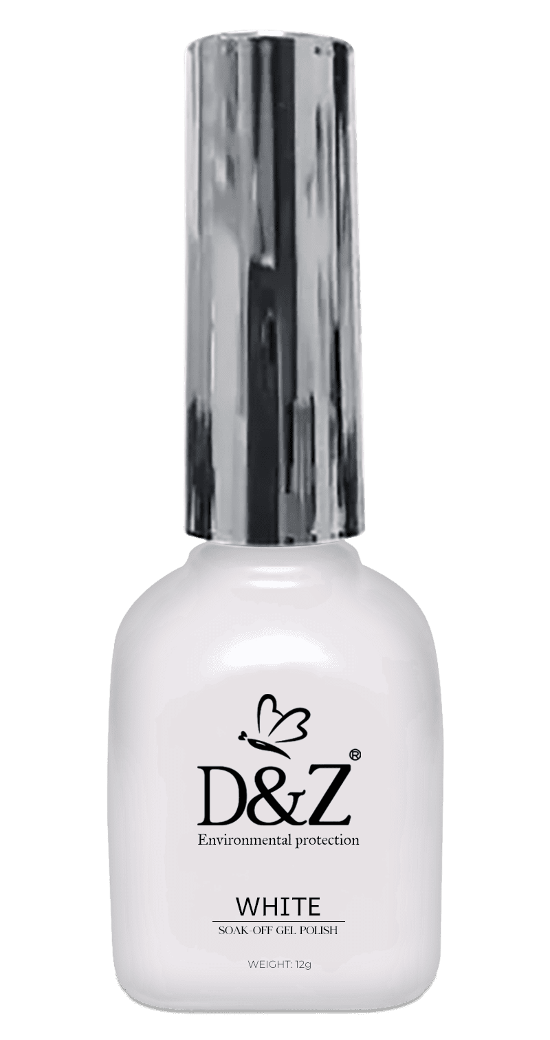 Esmalte em Gel D&Z 12g - Soak Off Gel Polish - Branco
