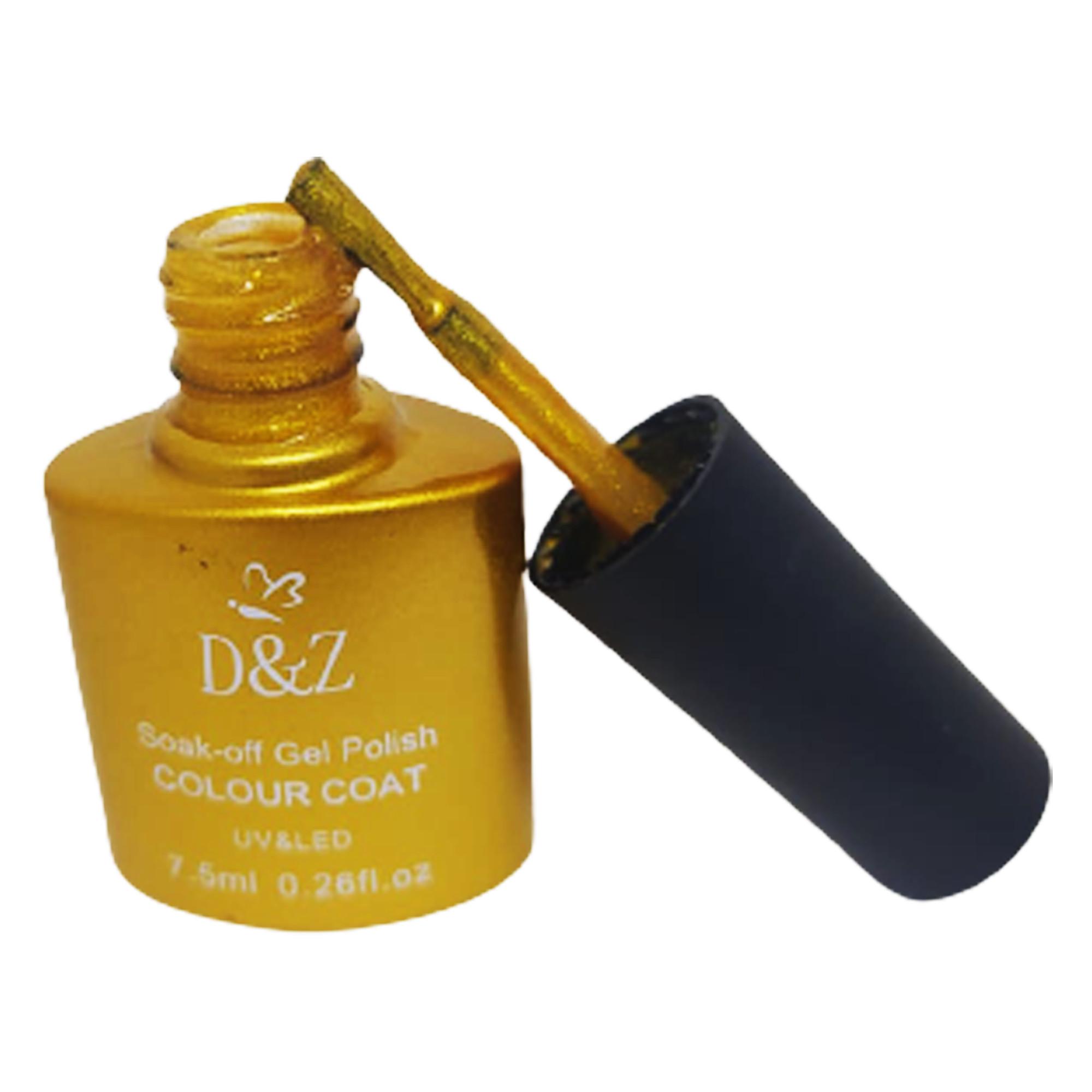 Esmalte Em Gel Dourado 7,5 Ml - D&Z