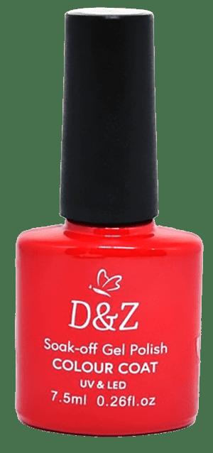 Esmalte Em Gel Vermelho 7,5 Ml - D&Z