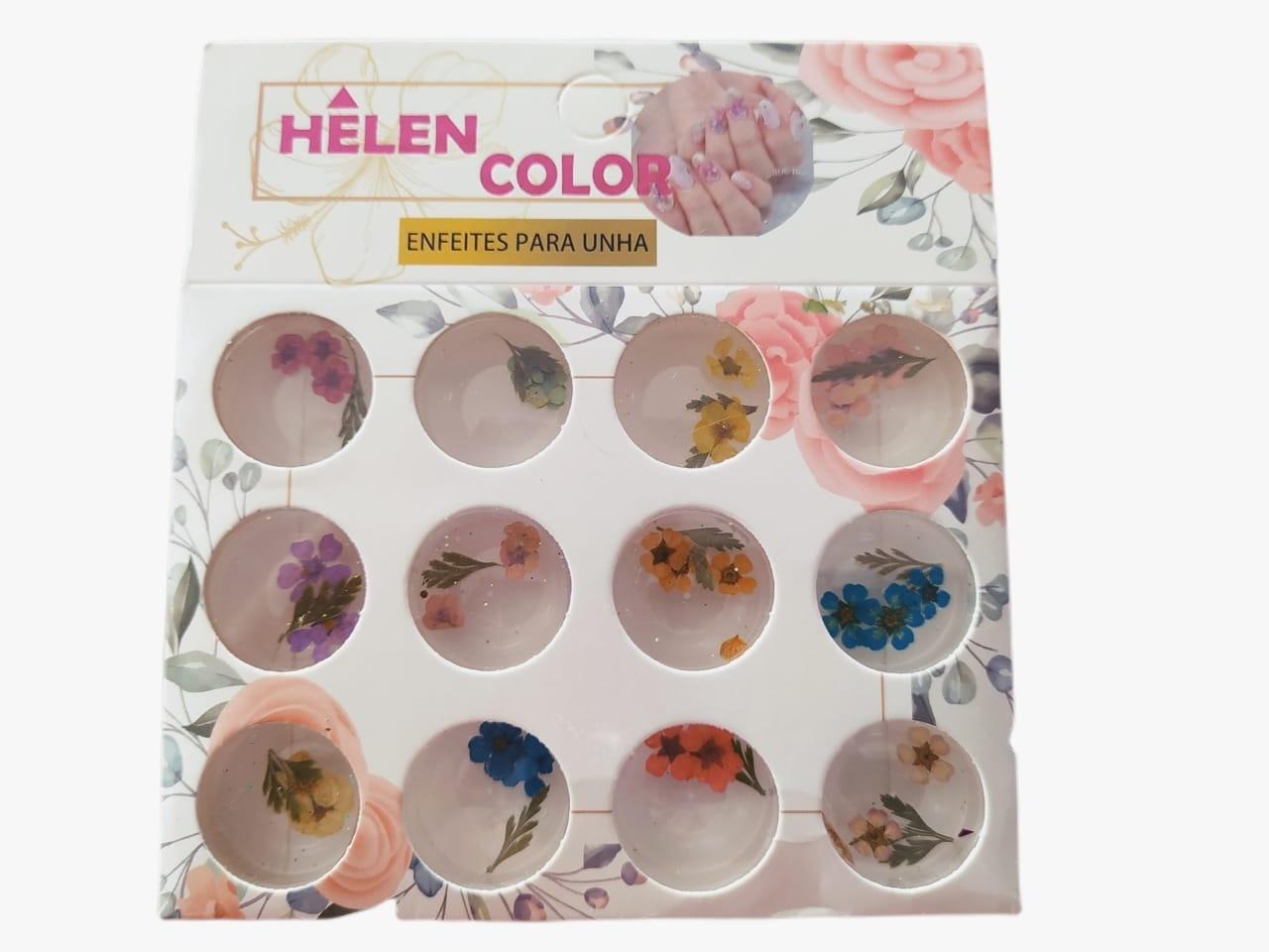 Flor Seca com 12 cores - Helen Color