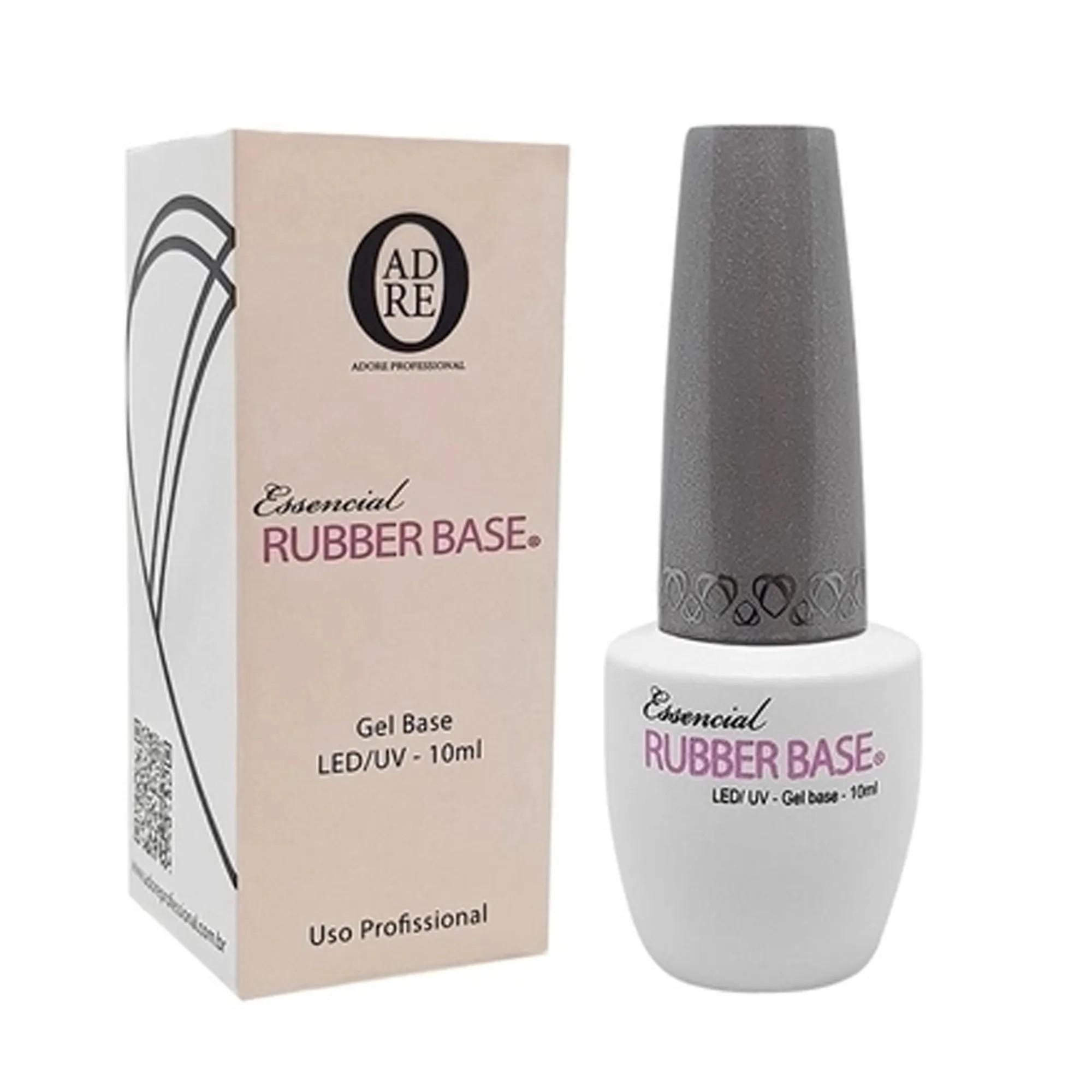 Gel Base Adore Essencial Rubber Ruber Base Led/Uv 10ml