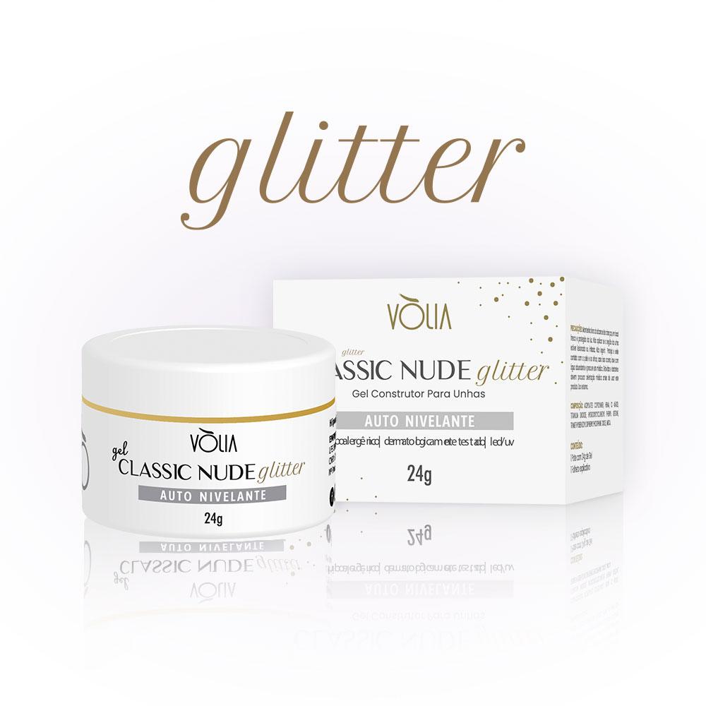 Gel Classic Nude Glitter Vòlia (24g)