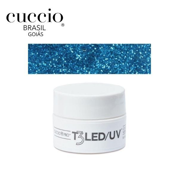 Gel - T3 Sparkle Led/Uv 7G - Smurf Glittr