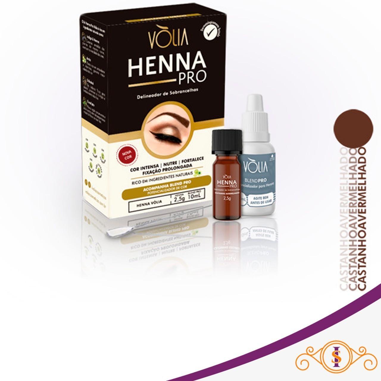 Henna Pro delineador de Sobrancelhas -  Castanho Avermelhado