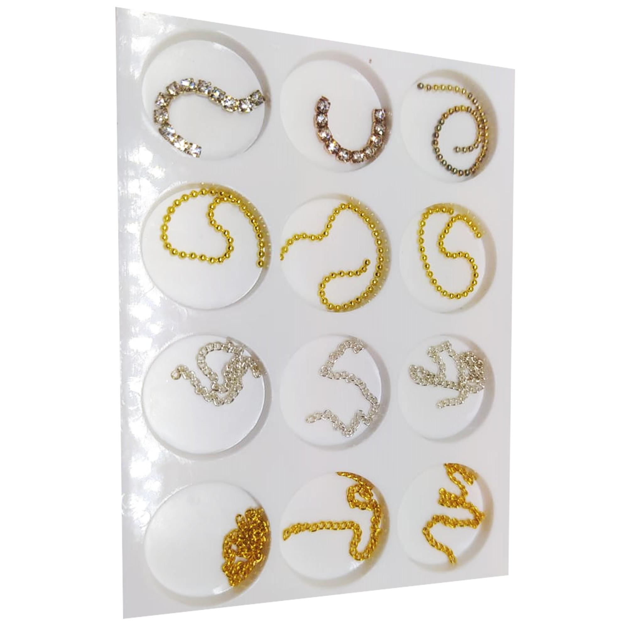 Kit correntinha para decoração de unhas
