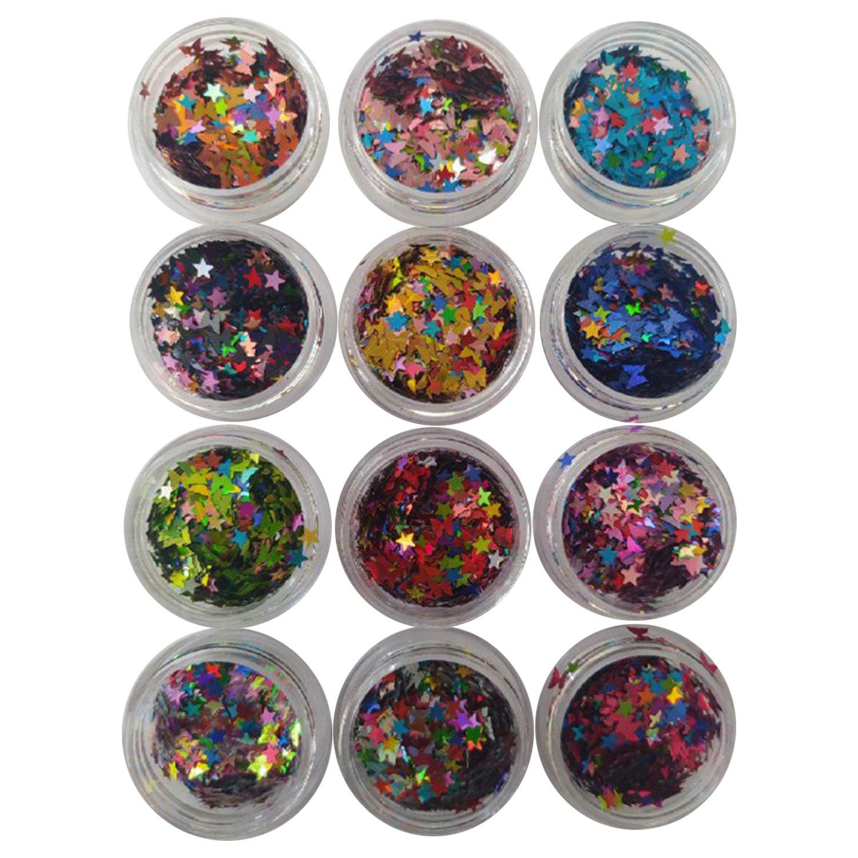Kit Decoração - 12 unidades - Borboletinhas e Estrelinhas - Cores diversas - D&Z