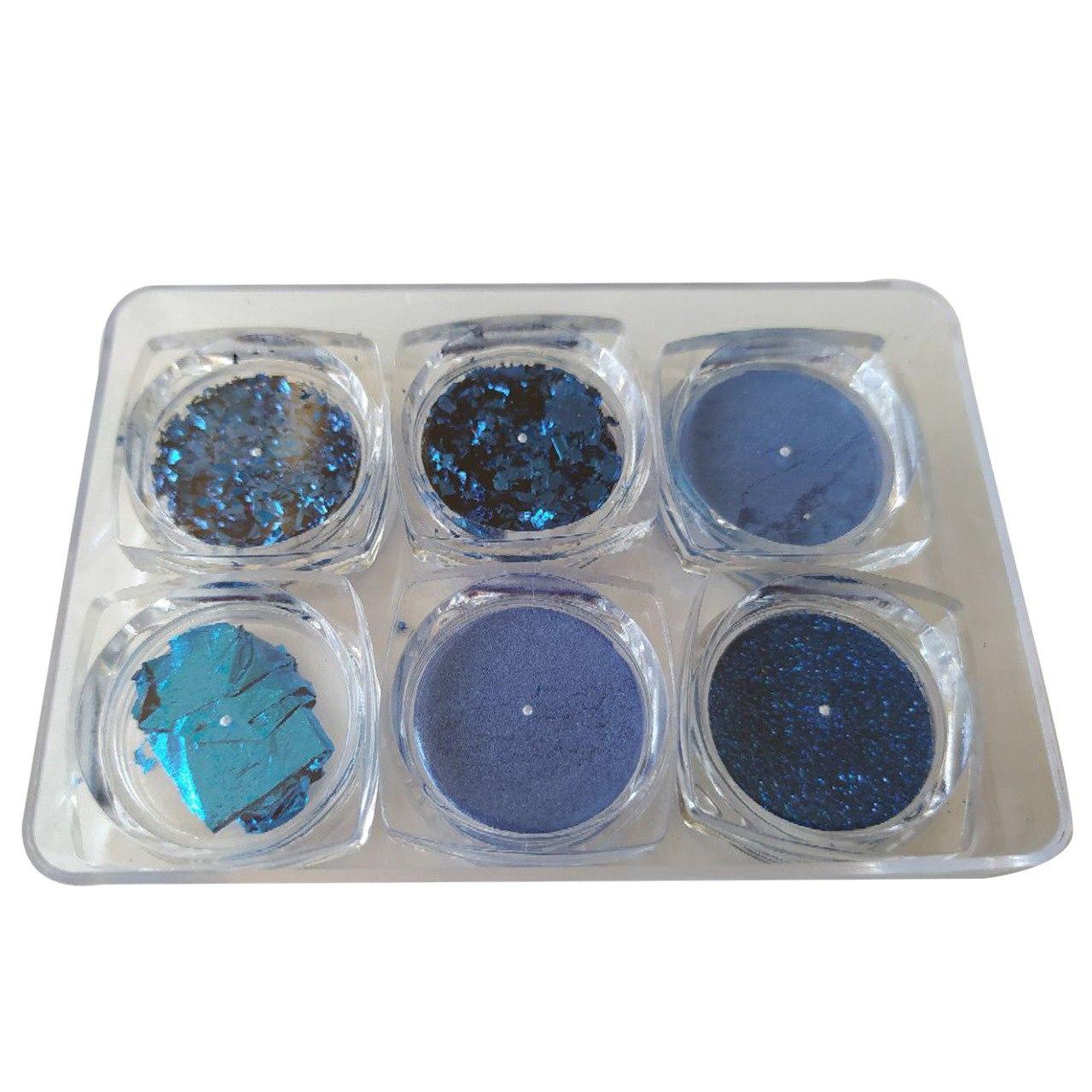 Kit Decoração Azul com 6 Unidades - D&Z