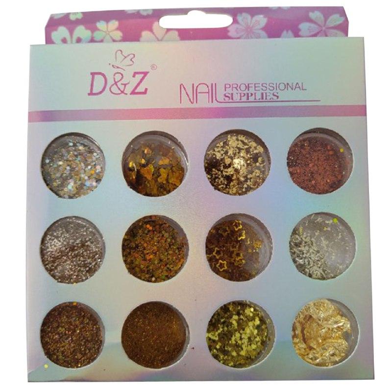 Kit Decoração com 12 Modelos - Linha dourada - D&Z