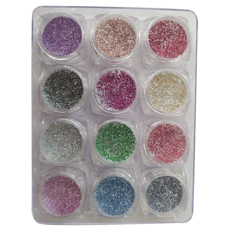 Kit Glitter Açúcar - 12 unidades - Cores Diversas - D&Z
