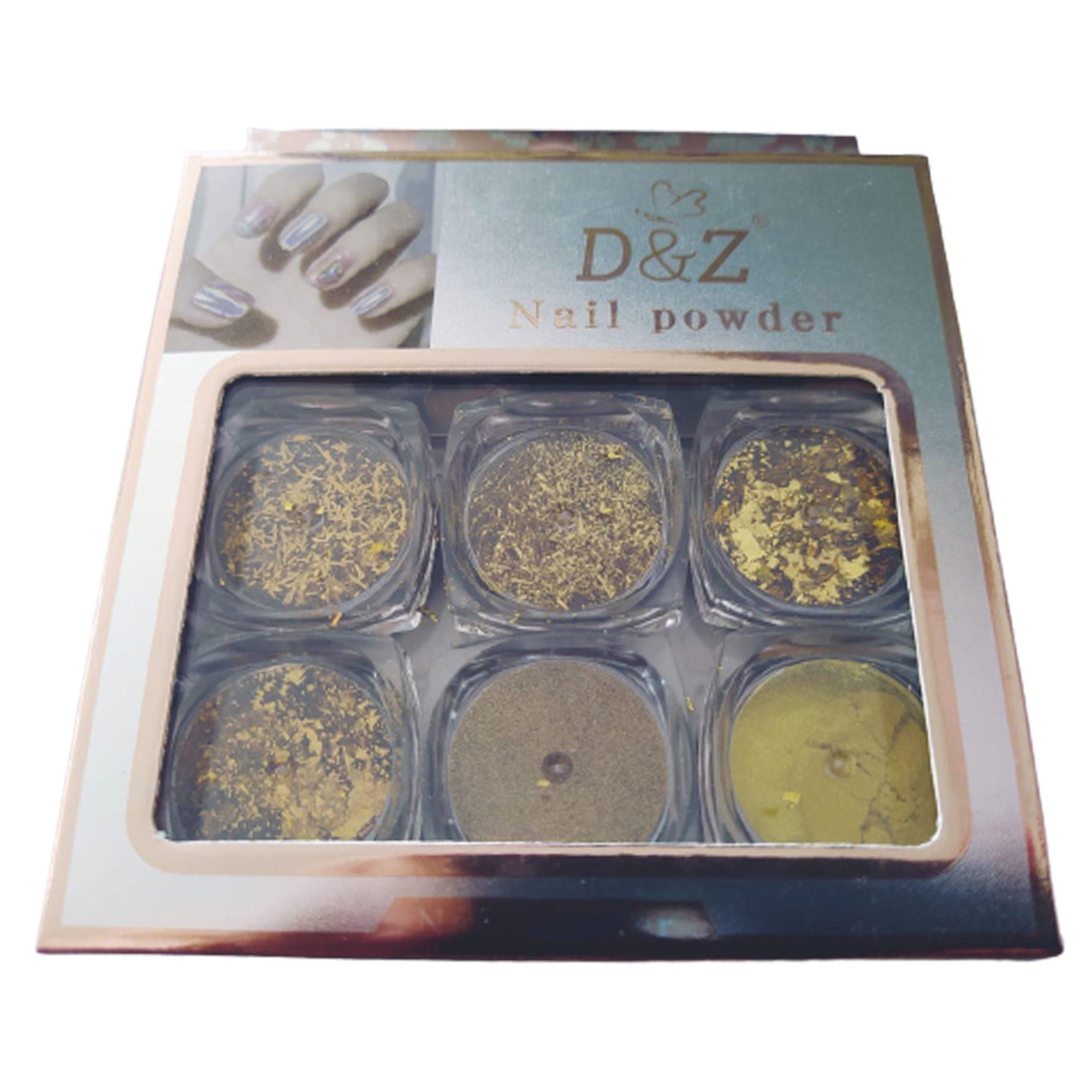 KIT GLITTER DOURADO D&Z - 6 POTES