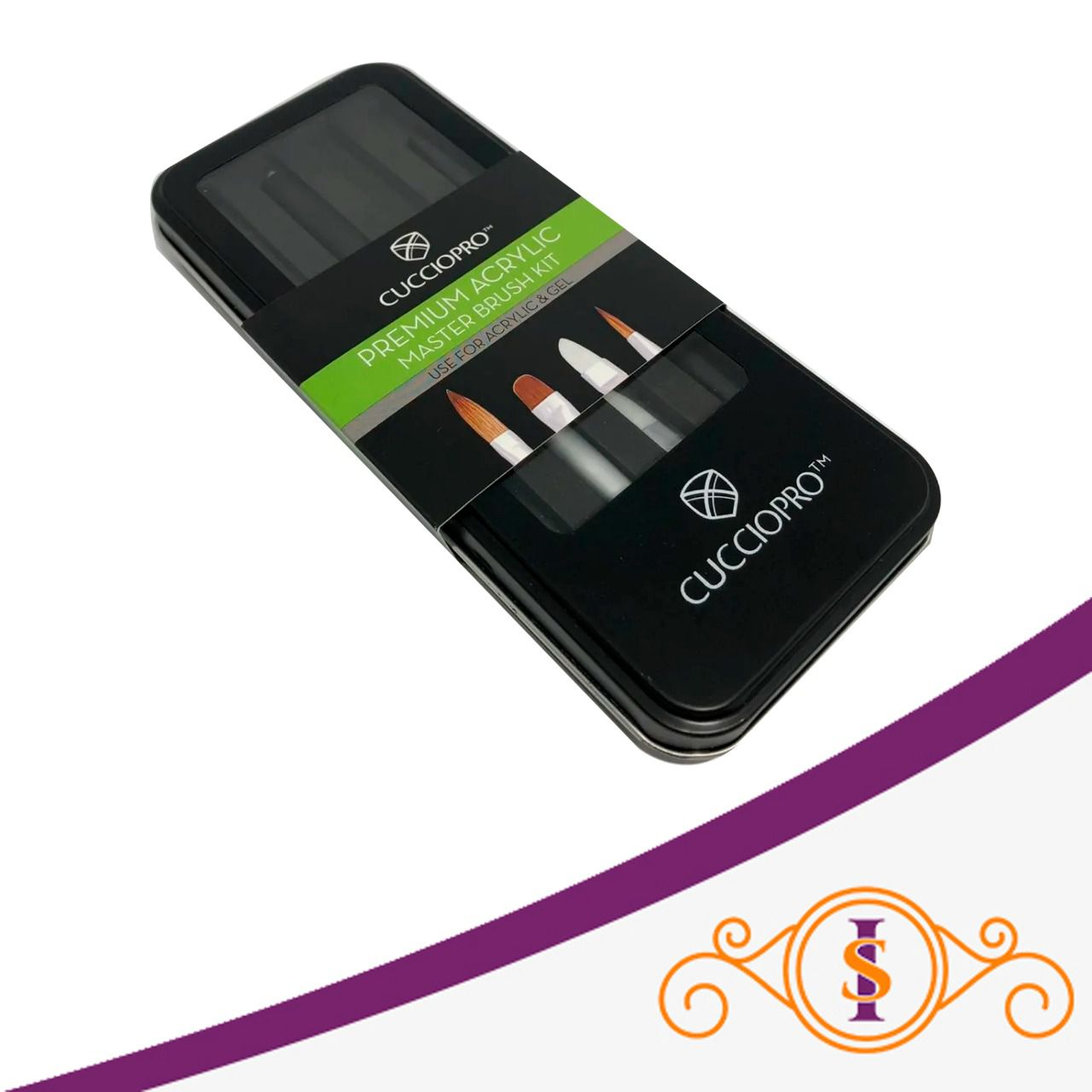 Kit Premium Acrylic Master Brush - Pincel Acrílico