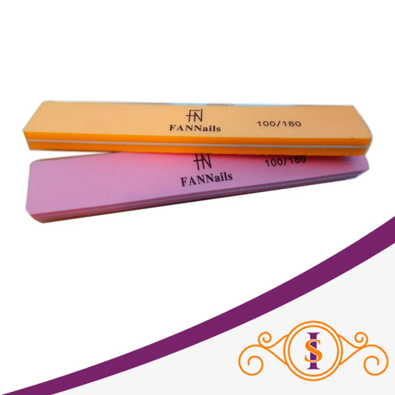 Lixa Polidora Reta 100/180 - Fan Nails