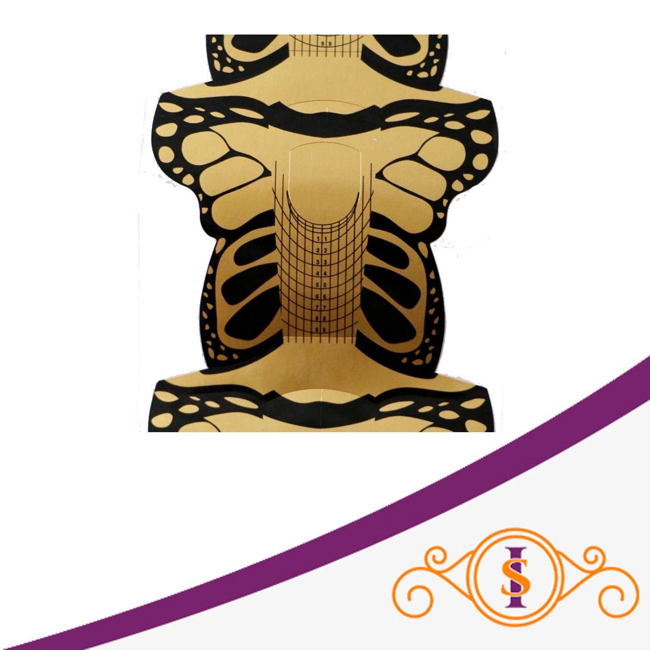 Molde Borboleta Preto e Dourado - 300 unidades