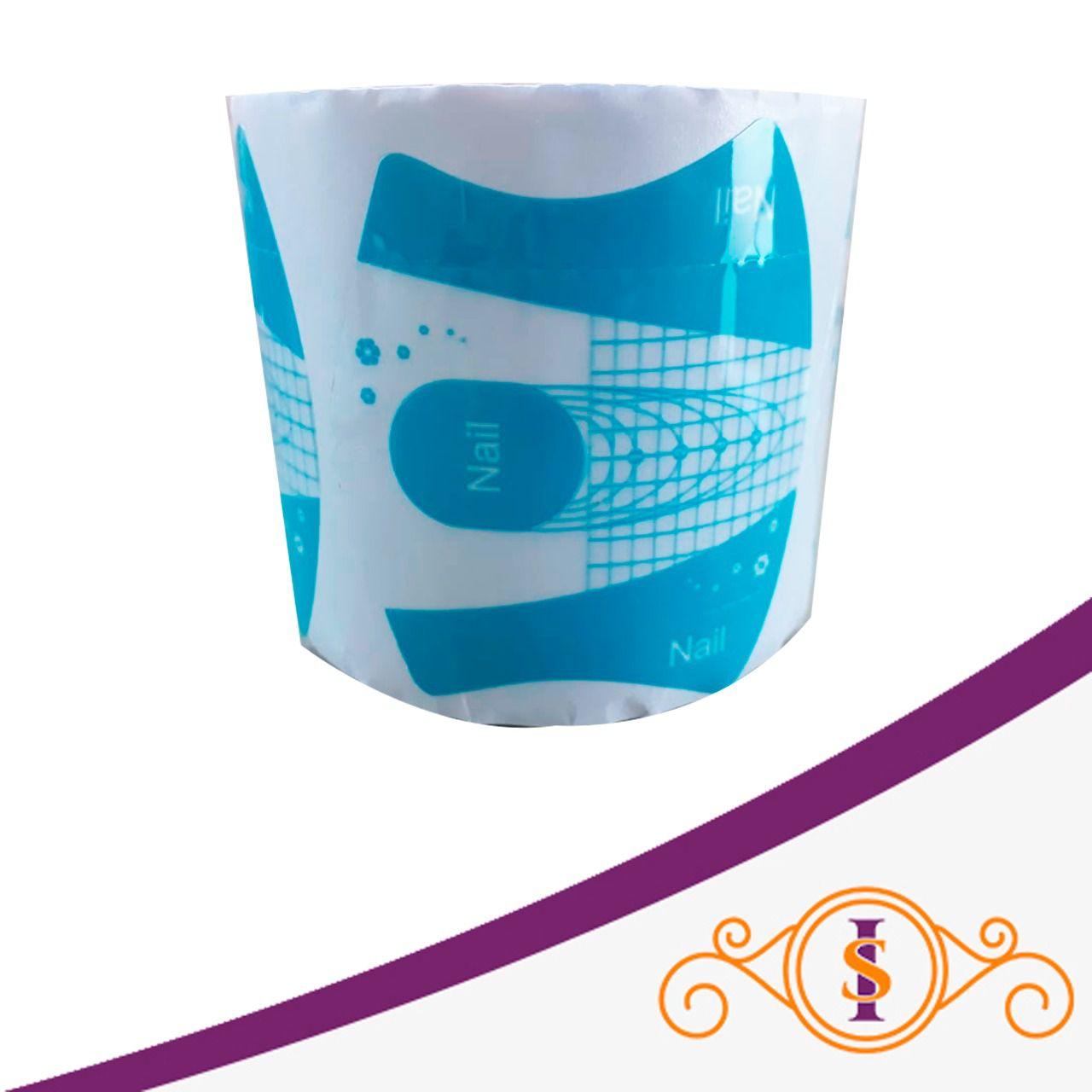 Molde de plástico azul - 300 unidades - Nail