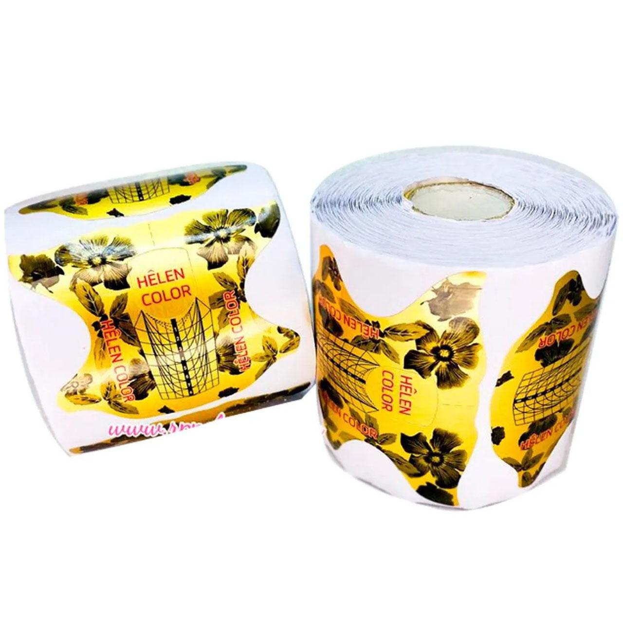 Molde Helen Color Dourado com flores - 300 uni