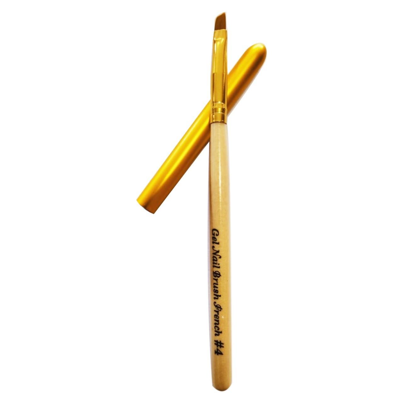 Pincel de madeira com tampa #4