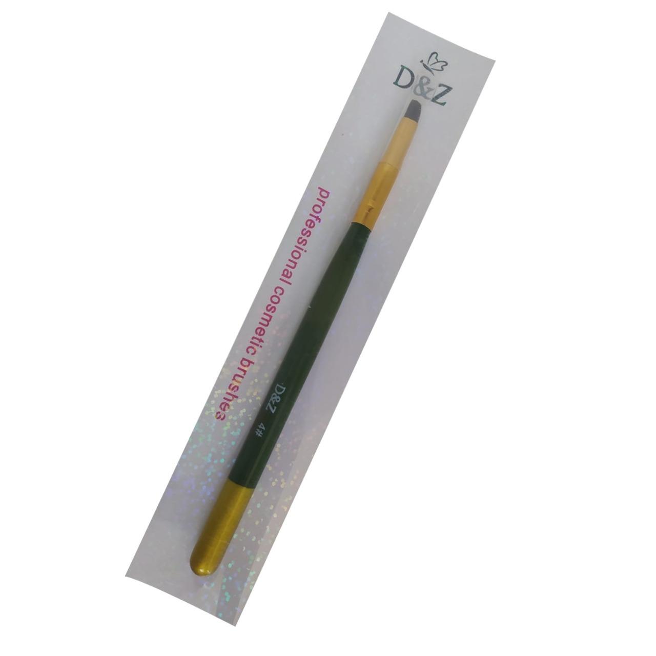 Pincel D&Z 4# Verde e Dourado - 1 unidade