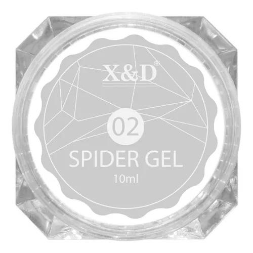 Spider Gel Profissional X&D Decoração Led Uv - 10ml - 02 Prateado