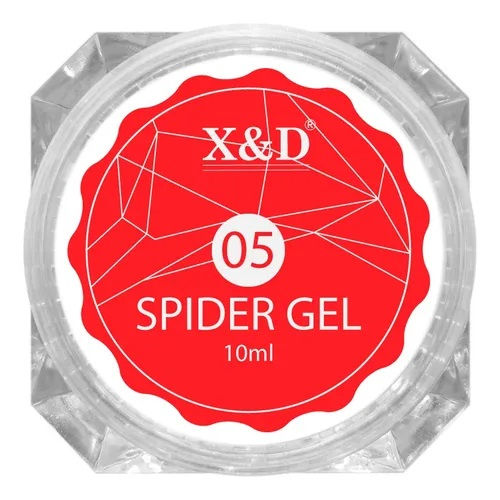 Spider Gel Profissional X&D Decoração Led Uv - 10ml - 05 Vermelho